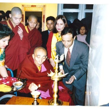 With 19th Kushok Bakula Rinpoche