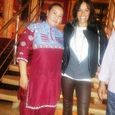With Michelle Rodriguez