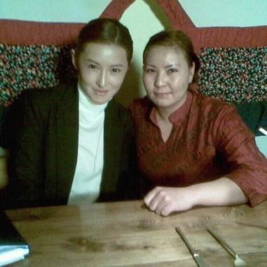 With model Urantsetseg