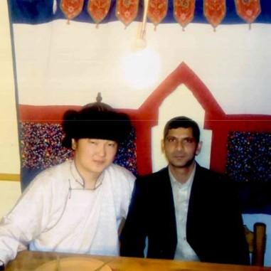 With singer Javkhlan